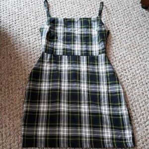 Nasty Gal plaid summer dress sz 2